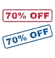 70 Percent Off Rubber Stamps vector image vector image