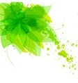 Abstract flower with green blots vector image