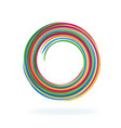 abstract spiral circle vector image vector image