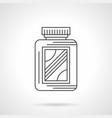 amino acid supplement jar flat line icon vector image vector image