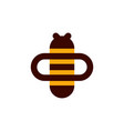 bee on honeycomb vector image vector image