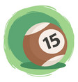 billiard ball number 15 brown vector image vector image