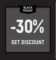 black friday sale limited offer get discount web vector image vector image