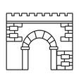 brick wall entrance cartoon vector image
