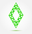 Bright green symbol made of triangles - abstract vector image