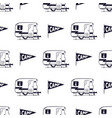 camping rv seamless pattern with camp pennant vector image vector image