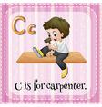 Carpenter vector image vector image