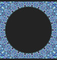 circular floral frame ornament - background design vector image vector image