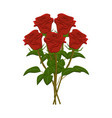 clip art bunch of red roses vector image