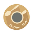 coffee time icon vector image vector image