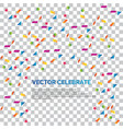 color confetti background celebration template vector image
