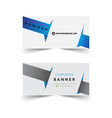 corporate banner design vector image vector image
