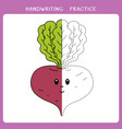 cute beet for coloring book vector image vector image