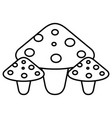 cute fungus isolated icon vector image