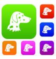 dalmatians dog set collection vector image vector image
