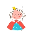 Depressed Little Princess Smoking Cigarette vector image
