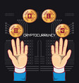design of cryptocurrency types vector image vector image