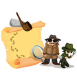Detectives looking for clues vector image