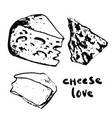 different cheese set vector image vector image