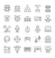 esports linear icons set vector image vector image