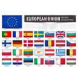 european union eu and membership country flag vector image vector image