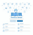 financial report accountant with calculator vector image vector image