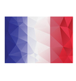 flag france low poly vector image vector image