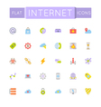 Flat Internet Icons vector image