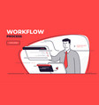 flat style on a workflow vector image