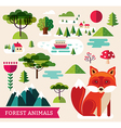 Forest animals - Fox vector image vector image
