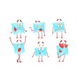 funny paper envelopes characters set letter with vector image vector image