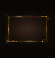 gold glowing rectangular frame light effect lines vector image vector image