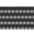 grey embossed pattern plastic pentagon grid vector image vector image