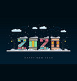 happy new year 2020 year rat merry vector image vector image