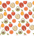 healthy lifestyle and fitness food nutrition vector image
