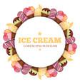 ice cream round banner - sweet dessert vector image vector image