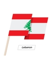 Lebanon Ribbon Waving Flag Isolated on White vector image