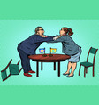 man against woman gender confrontation and enmity vector image vector image