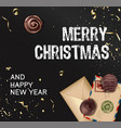 merry christmas and happy new year festive banner vector image vector image