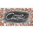merry christmas text and gingerbread cookies vector image vector image