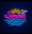 neon summer sign vector image vector image