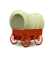 Old wagon isolated on white vector image vector image