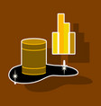 paper sticker on theme arabic business oil chart vector image vector image
