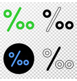 per mille eps icon with contour version vector image vector image