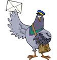 post pigeon vector image