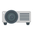 projector flat icon presentation and meeting vector image