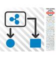 ripple cashflow flat icon with bonus vector image vector image