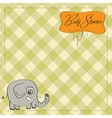 romantic baby announcement card vector image vector image