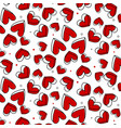 romantic pattern polka dot with red heart vector image vector image