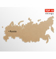 russia map russian maps craft paper texture vector image vector image